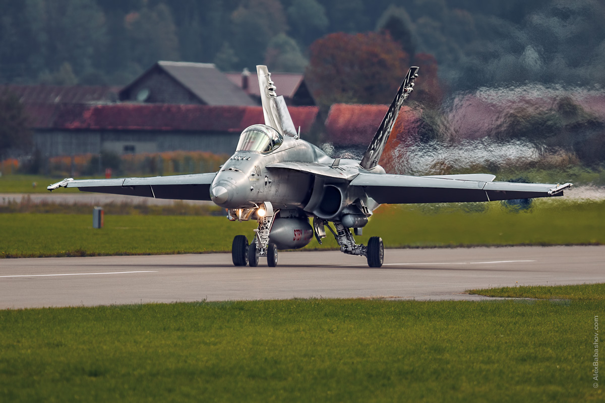 McDonnell Douglas F-18 Hornet J-5011, Meiringen (LSMM), Switzerland during AXALP 2015 Photo by Alexander Babashov
