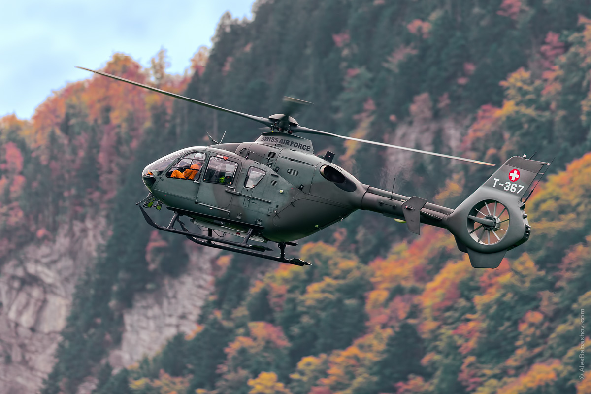 Eurocopter EC635 T-367, Meiringen (LSMM), Switzerland during AXALP 2015 Photo by Alexander Babashov